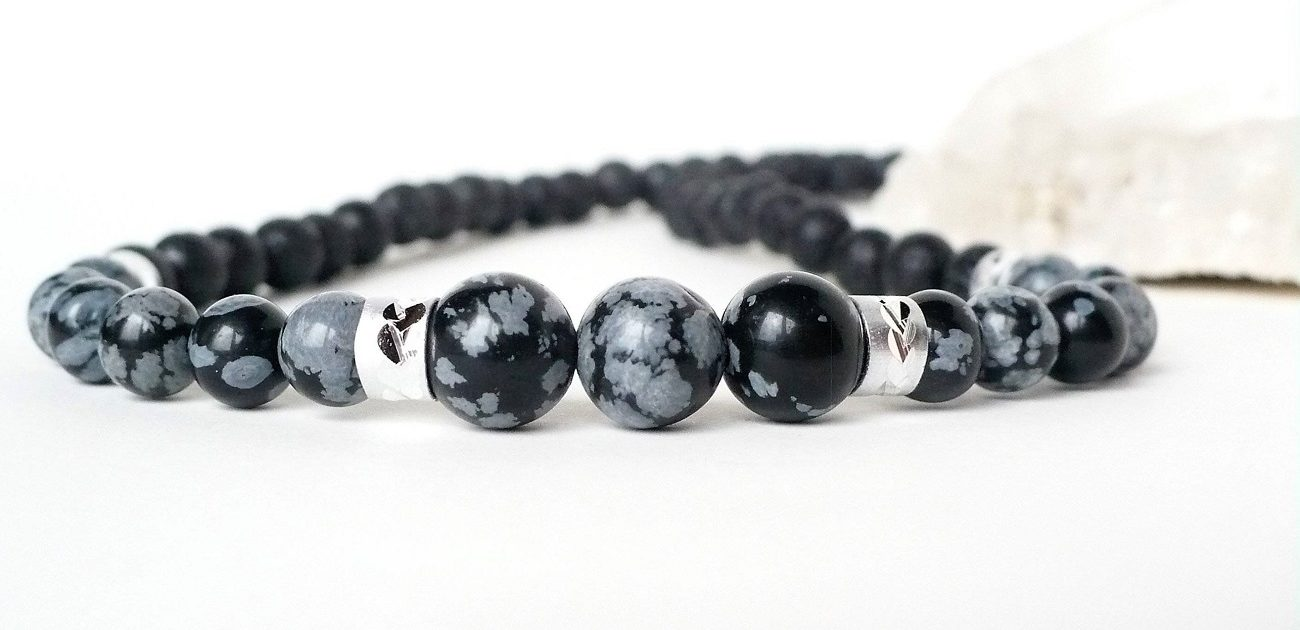 pierre obsidienne mouchetee