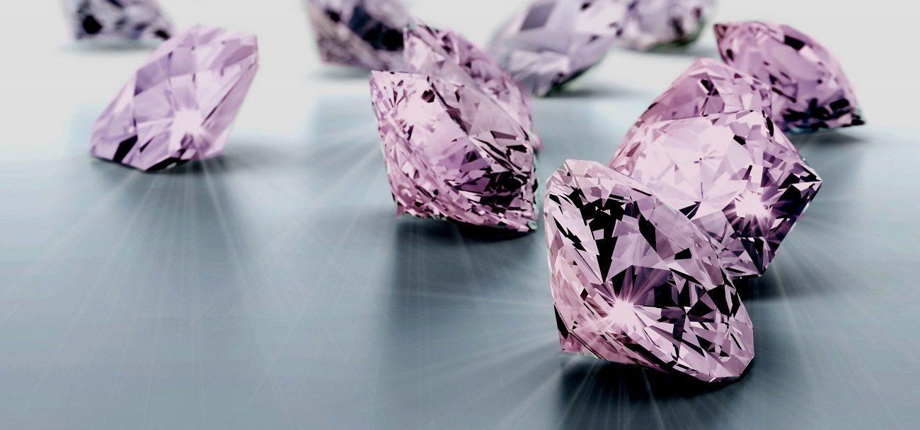 pierre diamant rose