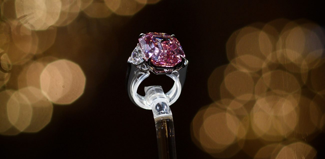 pierre diamant rose