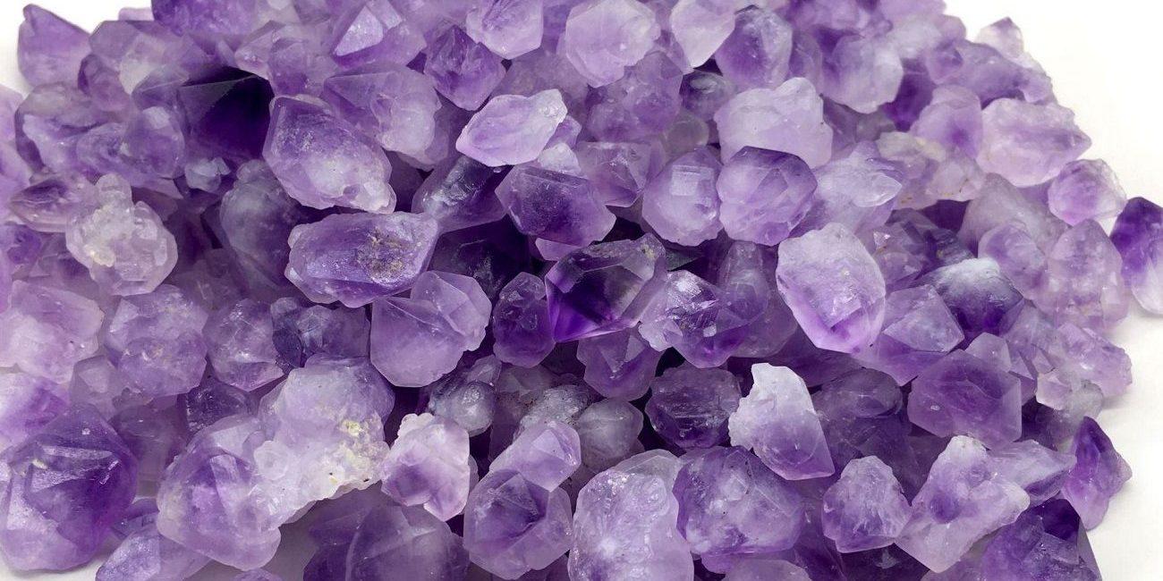 pierre amethyste lavande